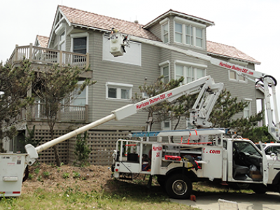 Bucket Truck Work on Outer Banks