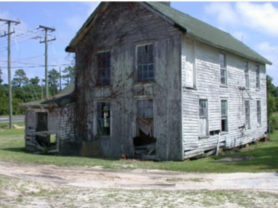 before renovation at Historic Jarvisburg Colored School