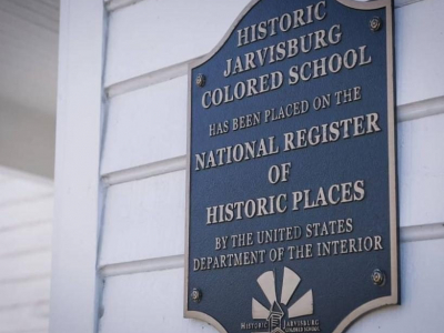 Plaque at Historic Jarvisburg Colored School