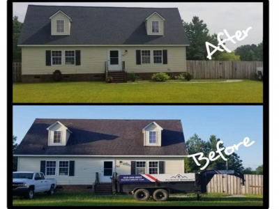 Before and After for Patriots' Roofing in Avon, NC