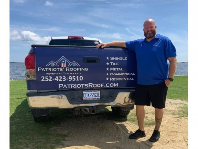 Nate Eslep with Patriots' Roofing in Avon, NC