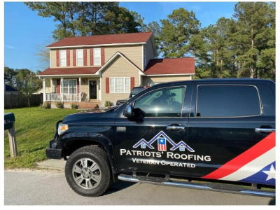 New roof by Patriots' Roofing in Avon, NC