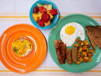 Breakfast at Beachcomber's Tiki Hut in Kill Devil Hills, NC