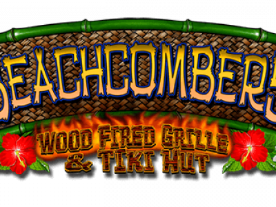 Logo for Beachcomber's Tiki Hut in KDH, NC