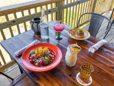 Lunch is server at Beachcomber's Tiki Hut in Kill Devil Hills, NC