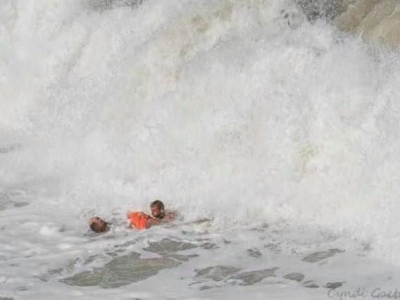 surf rescue by Nags Head Fire