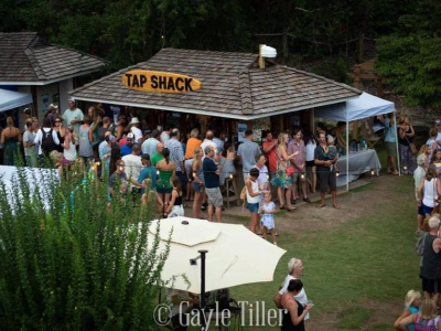 Good party at Tap Shack in Duck, NC behind Coastal Cravings