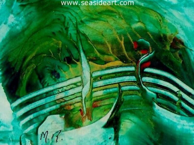 Back Garden Painting at Seaside Art Gallery